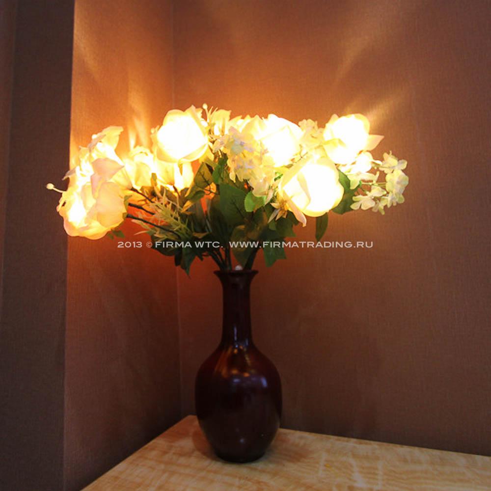 Купить искусственные цветы с подсветкой купить свежие розы недорого